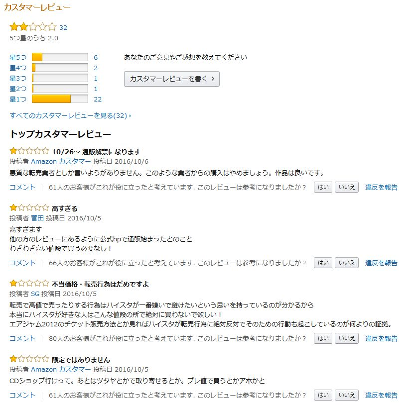 Another starting lineのAmazonレビュー